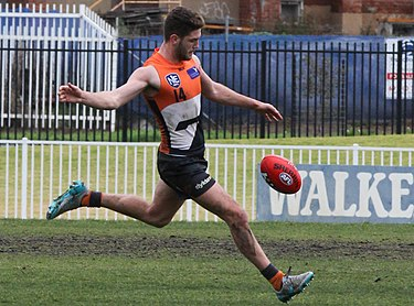 Bugg playing for GWS in August 2015. UWS Giants vs. Eastlake NEAFL round 17, 2015 89 (cropped).jpg