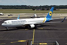 Ukraine International Airlines, UR-GEA, Boeing 767-322 ER (49587971841).jpg