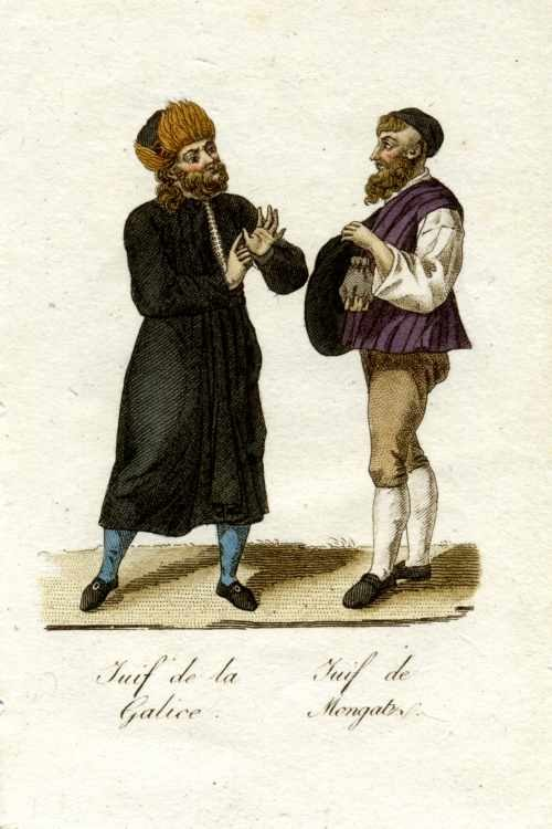 Ukrainian Jews from Galicia (left) and Mukachevo (right), 1821
