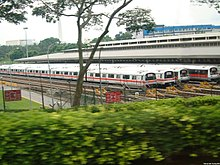 Siemens C651 pociągi dla Singapore MRT w Ulu Pandan Depot