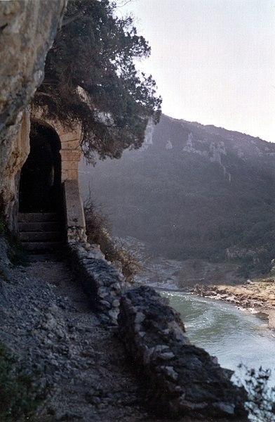 Under the La baume cave
