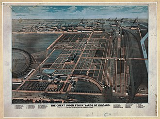 Union Stock Yards - The Union Stock Yards in Chicago in 1878