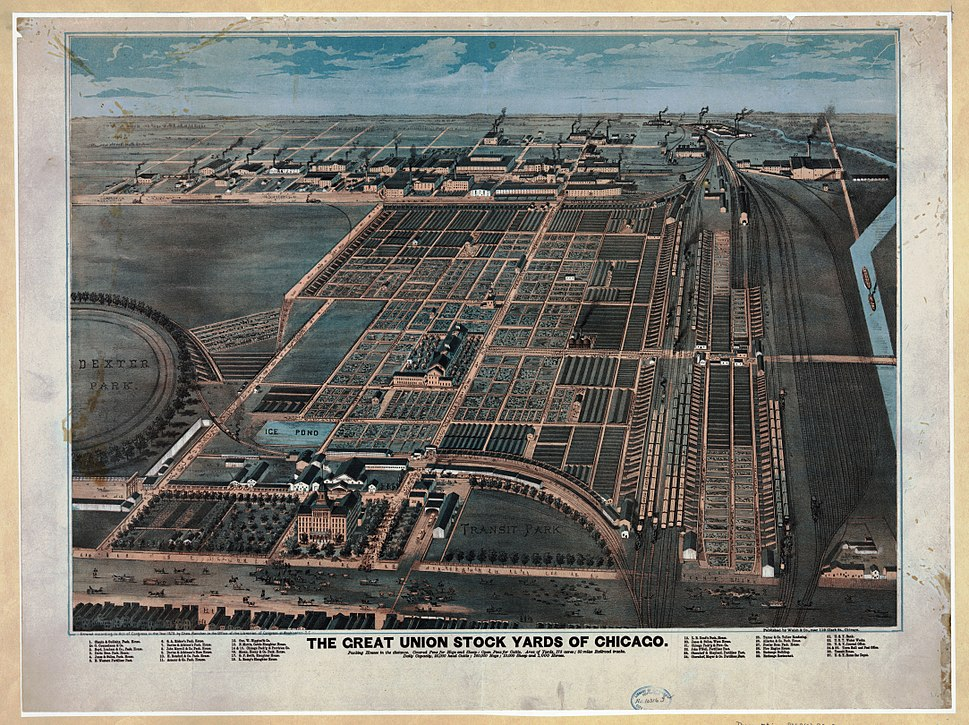Union stock yards chicago 1870s loc