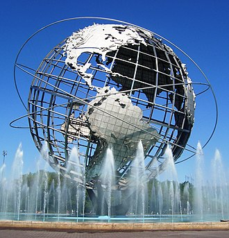 Boroughs of New York City - Image: Unisphere in summer