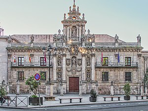 Facade of the University of Valladolid - Facade of the University of Valladolid (1716-1718).