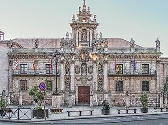 Facade of the University of Valladolid - Facade of the University of Valladolid (1716-1718).