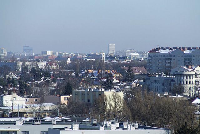 widok na dzielnicę Ursus w Warszawie