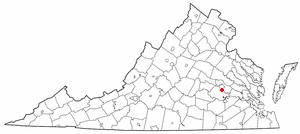 Bensley, Virginia - Image: VA Map doton Bensley