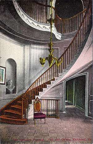 The Valentine - Entrance stairwell, postcard c.1910