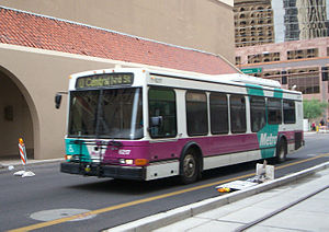 Valley Metro - The Valley Metro color scheme used from 1993 until 2006, still seen on many buses