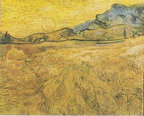 Wheatfield with Reaper and Sun