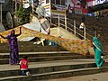 Varanasi 100 - drying a sari (34943564904).jpg