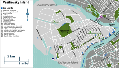 Map of Saint Petersburg/Vasilievsky Island