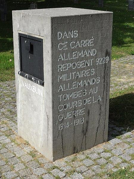 Cimetière miliaire allemand de Vauxbuin
