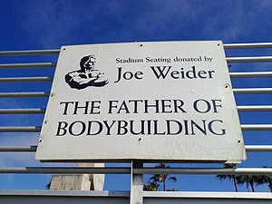 Joe Weider - Sign at Venice Beach commemorating Joe Weider's donation.