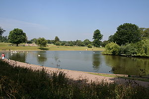 Verulamium Park - Verulamium Park in summer