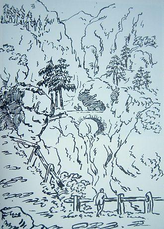 Viamala - Viamala in a drawing by J. W. Goethe; 1 June 1788