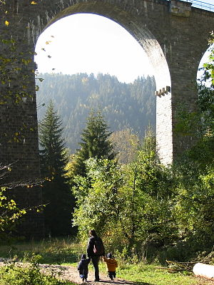 Höllental (Black Forest) - Viaduct over the Ravenna gorge