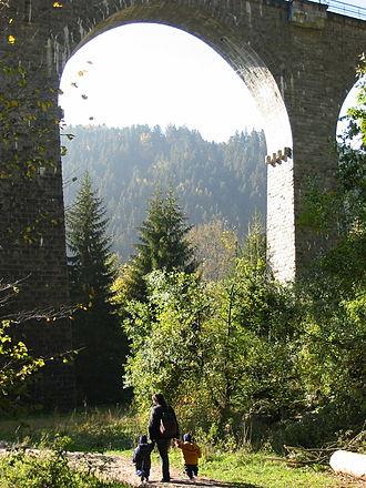 Höllental (Black Forest) - Viaduct over the Ravenna gorge