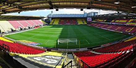 Vicarage Road stadium in Watford