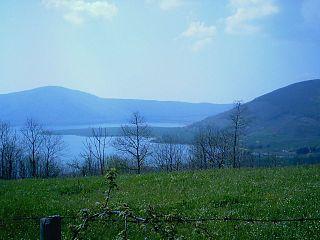 lake in Lazio, Italy