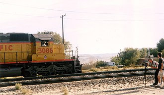 Stock footage - Videographer captures stock footage of a passing train outside Las Vegas: photograph by Patty Mooney.