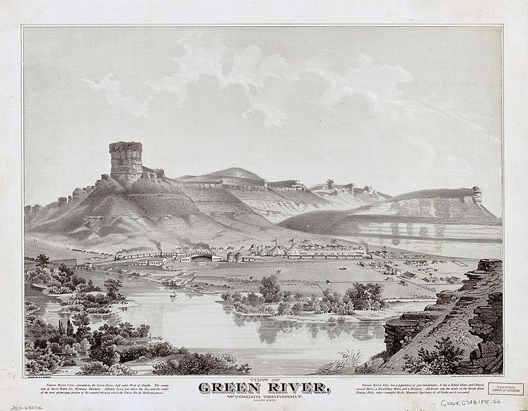 File:View of Green River, Wyoming Territory (looking north) LOC 2005632706.jpg