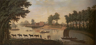 View of Shepperton on the River Thame