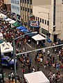 View of crowd on Second Avenue during 2012 Midnight Sun Festival, Fairbanks, Alaska.jpg