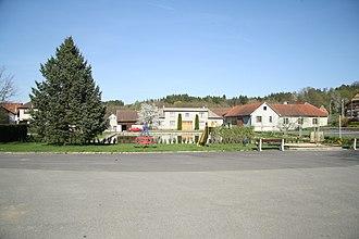 Čelistná - Image: Village square of Čelistná, Pelhřimov District