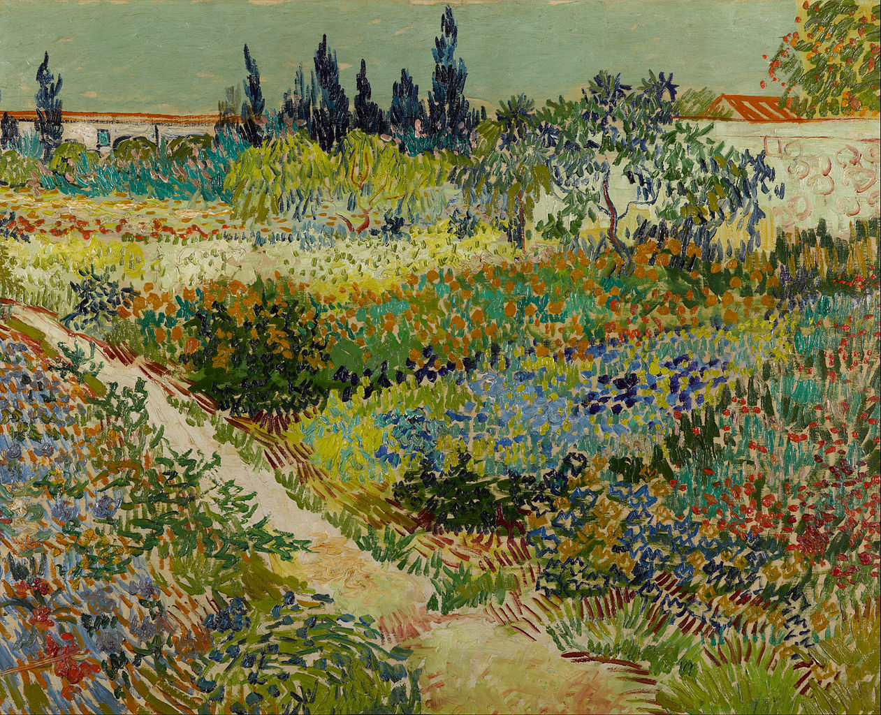 Good File:Vincent Van Gogh   Garden At Arles   Google Art Project