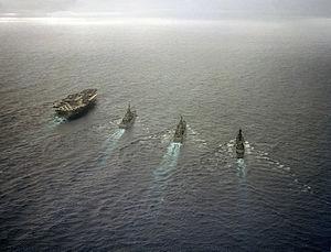 Virginia-class cruiser - Image: Virginia class cruiser in task group