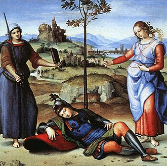 Silius Italicus - The Vision of a Knight by Raphael is based on an episode in Book 15 of the Punica, the choice of Scipio.