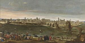 Vista de Zaragoza en 1647