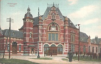 Vlissingen railway station - Image: Vlissingen station 1910