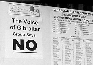 Gibraltar sovereignty referendum, 2002 - A poster from the campaign