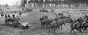 "Battle of the Bzura - Polish cavalry brigade ""Wielkopolska"" during the battle"