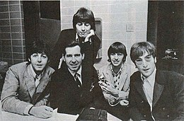 The Group With Disc Jockey Jimmy Staggs While On Their Final Tour In August 1966