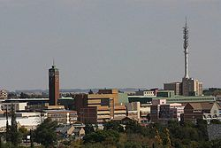 Welkom's city centre skyline