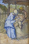 WLANL - Minke Wagenaar - Vincent van Gogh 1889 The sheep shearer (after Millet)-2-2.jpg