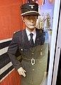 WW2 Norway Nasjonal Samling NS (Norwegian Nazi Party) Rikshirden Hirden Fylkingfører uniform jakke kepi lue solkors Frontkjempermerke Damsleth plakat Arquebus Museum Tysvær Haugalandmuseet 2020-06 07940.jpg