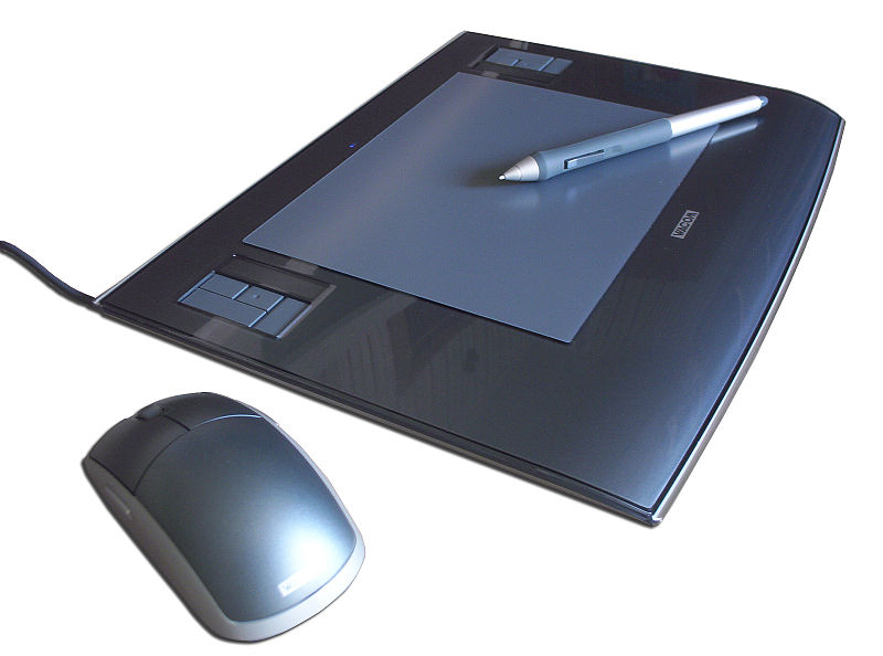 Wacom Pen Tablet with Pen and mouse, Intuos 3 A5