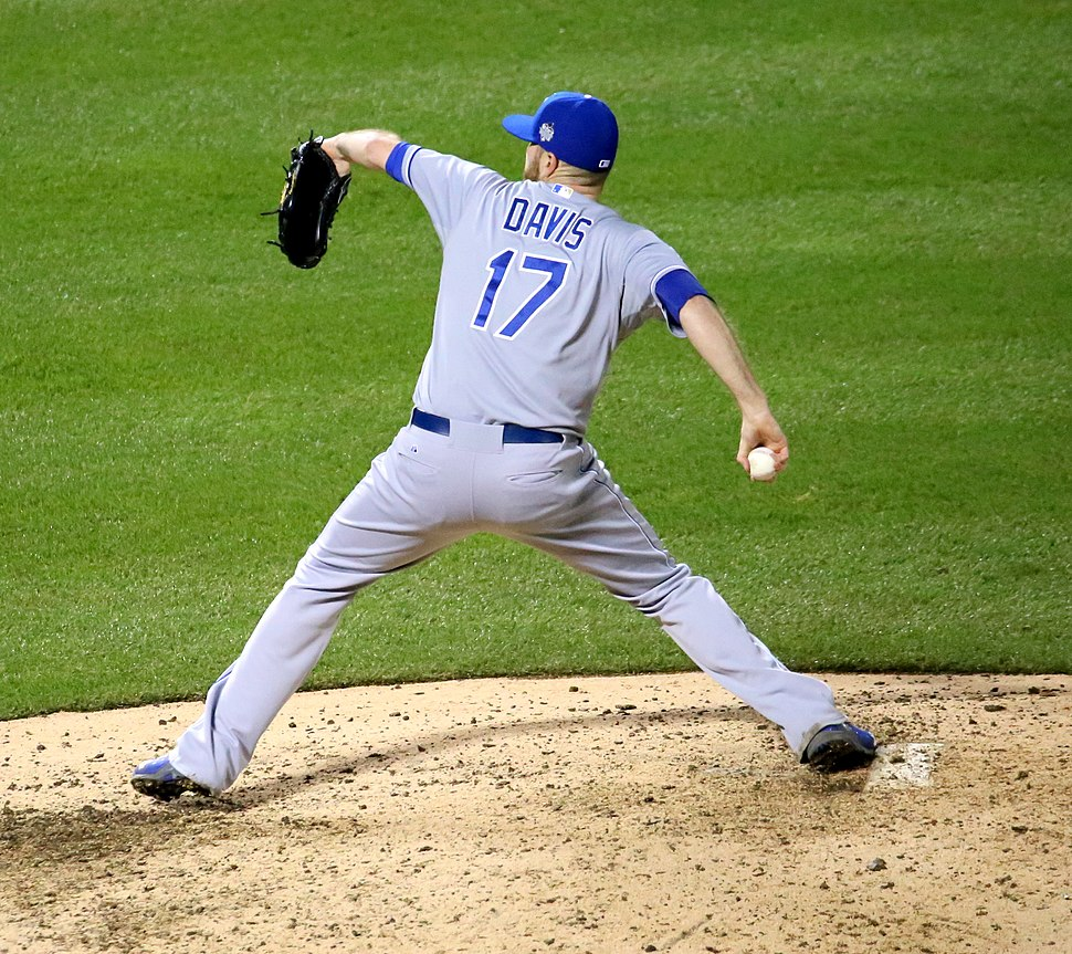 Wade Davis Throwing the Last Pitch of the 2015 World Series