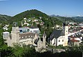 Waidhofen Ybbs.Rothschildschloss und Stadtpfarrkirche.vom Krautberg aus.JPG