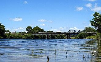 Ngaruawahia - Waikato River passing through Ngāruawāhia