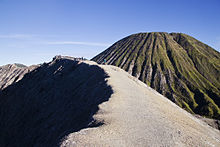 Walking on the edge of Gunung Bromo volcano.jpg