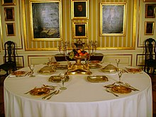 Table Laid For Six Royal Castle Warsaw 18th 19th Century