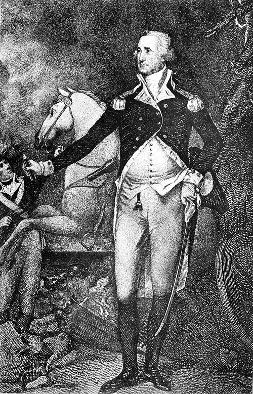 Washington at Trenton, engraving in Collier's 1921.jpg