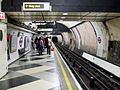 Waterloo tube stn Northern southbound look north.JPG