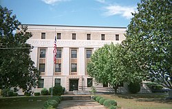 Wayne County courthouse in Waynesboro